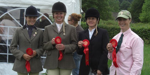 Demelza Ruane, Katie Whitaker, Debbie Mason, Miranda Loffet - Winners at the Area 18 ODE Qualifier, Broadway, June 2010